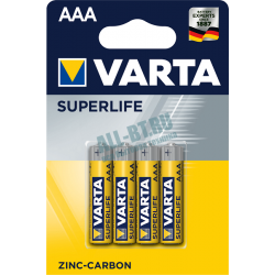 Батарейка VARTA SUPERLIFE AAA/LR03 бл 4