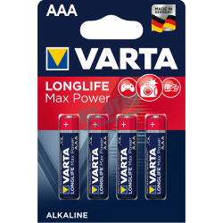 Батарейка VARTA Longlife Max Power AAA/LR03 бл 4