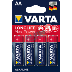Батарейка VARTA Longlife Max Power AA/LR06 бл 4