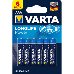 Батарейка VARTA LONGLIFE POWER AAA/LR03 бл 6