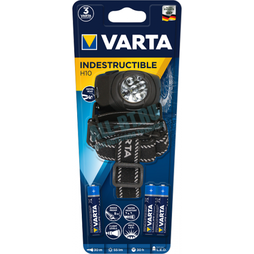 Фонарь VARTA LEDx5 INDESTRUCTIBLE HEAD 3 AAA/LR03