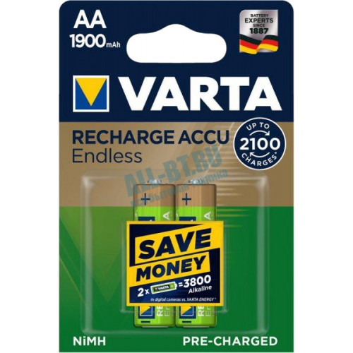 Аккумулятор Varta Rechargeable Accu Endless 2xAA 1900 mAh
